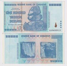 ZIMBABWE 100 TRILLION DOLLARS, 2008, P-91, AA PREFIX XF BANK NOTE