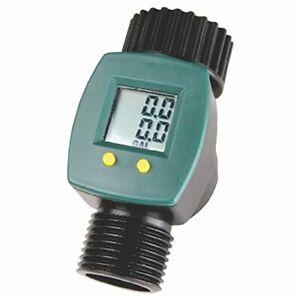Digital Water Flow Consumption Meter Reader LCD Display Garden Hose gal / liters