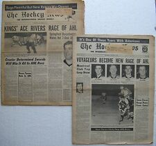 """(2) """"The Hockey News"""" International Weekly published in Montreal: 1970 & 1971"""