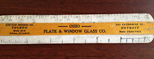 "1930s Ohio Plate & Window Glass Co Toledo OH 6"" Advertising Ruler Buckeye State"