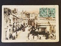1920 Valletta Malta to St Louis Missouri USA Marina Real Picture Postcard Cover