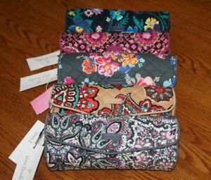 Vera Bradley ICONIC ON A ROLL CASE small cosmetic brush pencil travel bag pouch