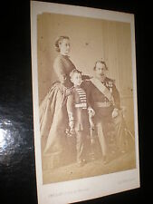 Cdv old photograph Napoleon III Eugenie and Prince Imperial Levitsky Paris 1860s