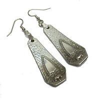 Spoon Earrings 1916 Rogers Heraldic Vintage Antique Silverplate Jewelry