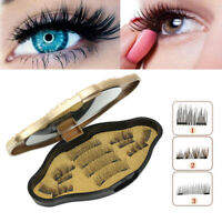 12Pcs/6 Pairs 3D Magnetic False Eyelashes Natural Eye Lashes Extension Soft Tool