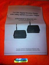 1080p 2.4GHz Digital Wireless AV Transmitter HDMI for Gopro Hd hero3 hero4 Black