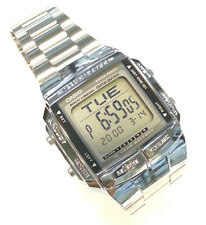 CASIO Multi Lingual DataBank Watch Stainless Steel Illuminator DB360 5 Alarms