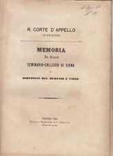 DIRITTO MANOMORTA CAUSA SEMINARIO COLLEGIO SIENA CONTRO DEMANIO TASSSE 1868
