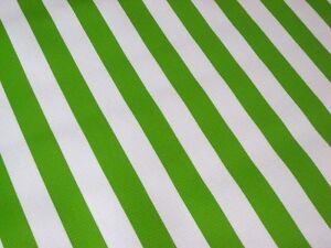 LIME GREEN WHITE CABANA STRIPE PICNIC PATIO BBQ OILCLOTH VINYL TABLECLOTH 48x48