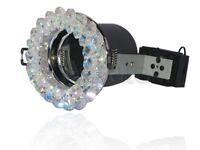 Fire Rated Crystal Downlight -Orbis Topaz Blue(CYS023)- GU10 Bulb(Spot Light)