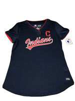 Mothers Day Cleveland Indians MLB Women Shirt Metallic Graphic SzM New With Tags