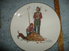 Gs Norman Rockwell Four Collector Plates 1974 Gorham China Mint + Sanderson