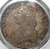 1786-M PCGS XF 40 France Louis XVI Ecu Crown Pedigree Silver Coin (20112001C)