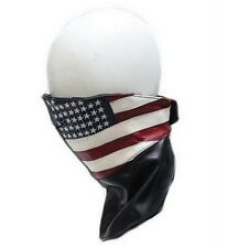 USA Flag Leather Motorcycle Biker Face Mask Extended Neck Warmer Dream Apparel