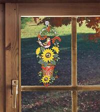 Plauener spitze Fensterbild Vogel Fensterdekoration Frühling DEKO Sonnenblume