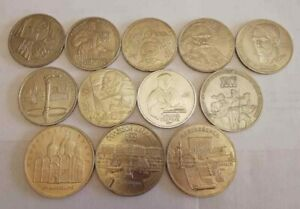 Rubles USSR,Space,Olympic Games Moscow,Famous people,Revolution,Jubilee,Building