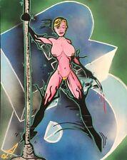 RD357 (US) graffiti sur toile de 2003 signé - 71 x 56 cm /cope2/seen/taki/futura