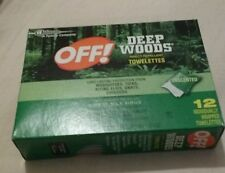 OFF! Deep Woods Towelettes 12 Each