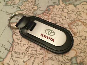 TOYOTA Key Ring Etched and infilled On Leather