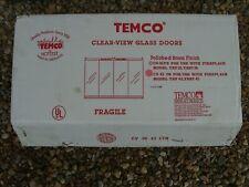 Temco Cv-42 Polished Brass Fireplace Door Set (New & Complete)