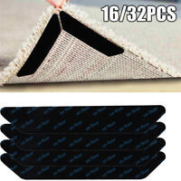 32pcs Rug Gripper Pads Anti Curling Non Slip Carpet Anchors Super Sticky Holders