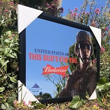 Budweiser U.S. Army Armed Forces Military Beer Bar Mirror Man Cave Pub New