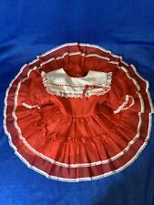 vintage Kandy Ann party pageant dress red size 3