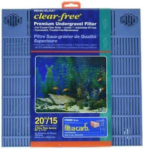 Penn Plax Premium Under Gravel Filter System - for 20 Gallon Fish Tanks &...