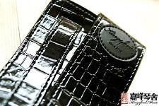 100% brand new kingsford imitate snake skin guitar strap black free shipping