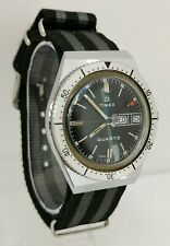 Vtg 1978 Timex Q Electric Quartz Red Dot Lollipop Divers Day Date Gents Watch