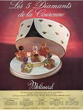 ▬► PUBLICITE ADVERTISING AD Parfum Perfume diamants de la couronne MOLINARD 1950