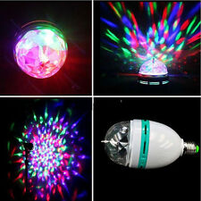 B22/E27 3W RGB LED Auto Rotating Crystal Lamp Full Color DJ Stage Light Bulb PTY