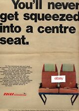THAI AIRWAYS YOU'LL NEVER GET SQUEEZED INTO A CENTRE SEAT 2 ABREAST CARAVELLE AD
