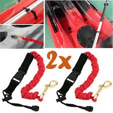 2pcs Paddle Leash Fishing Leash Safety Rod Leash Lanyard For for kayak Canoe T5I