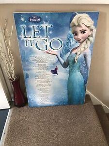 Elsa 'Let It Go' Lyrics Wall Art