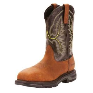 Ariat Mens Workhog XT Waterproof CarbonToe Safety Western Boots 10024966