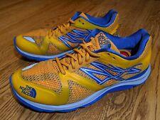 North Face Hyper-Track Guide men's running shoes, size 7.5, orange/blue