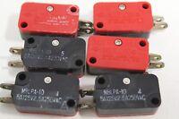 Set of (6) Mulon M8 M8LPA-10 Reel / Cart Miniature Precision Micro Switch