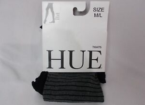 Hue Women's Shimmer Accent Tights Black/Gray Size M/L