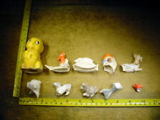 10 x excavated vintage doll parts Germany Hertwig age 1890 mixed media Art B 62