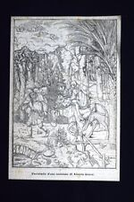 Fac-simile d'una incisione di Albrecht Durer Incisione del 1875