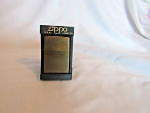 Zippo Cigarette Lighter BrassNever used in Original Plastic/Display CaseDated