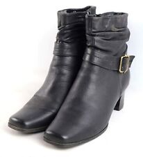 Spring Step Womens EU Size 39 Black Leather Ankle Boots