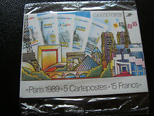FRANCE -  5 cartes entiers panorama de paris 1989 (cy52) french (I)