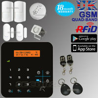 LCD WIRELESS GSM AUTODIAL SMS RFID HOUSE OFFICE SECURITY BURGLAR INTRUDER ALARM
