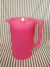 Tupperware Classic Pitcher One Gallon Round Pink W/ Matching Seal New