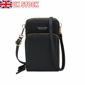 Women Girl Mobile Phone Bag PU Leather Crossbody Purse Wallet Shoulder Bag Pouch