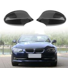 1 Pair Carbon Fiber Side Wing Mirror Cover Caps for 3 Series E90 328i 2009-2012