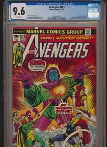 MARVEL COMICS AVENGERS #129 CGC 9.6 WP KANG APPEARANCE & COVER