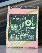 Rare Vintage Matchbook Cover Y9 South Heart North Dakota Gayest Spot In Town